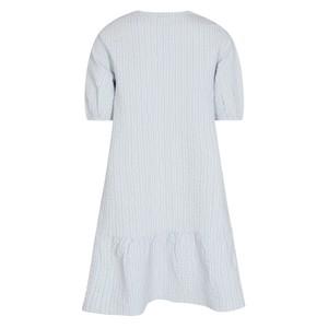 Levete Room Nina Stripe S/S V/N Dress Heather Blue
