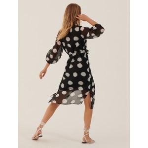 Marella Paglia Spotty Shirt Dress Black/White