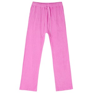 Terry Wide Leg Joggers Neon Pink