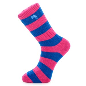 Weekend Stripe Sock Pink/Blue