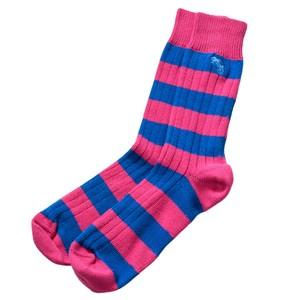 Win Or Lose Weekend Stripe Sock Pink/Blue