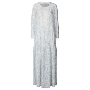 Burton Floral Dress w Slip Dusty Blue