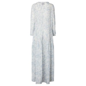 Lollys Laundry Burton Floral Dress w Slip Dusty Blue