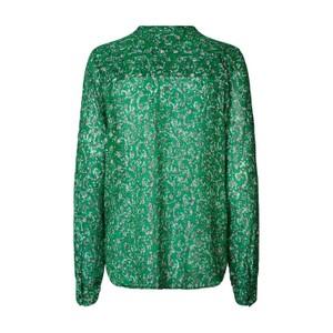 Lollys Laundry Helena Lurex Print Shirt Dark Green