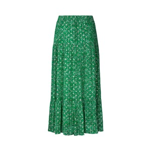 Lollys Laundry Bonny Lurex Print Skirt Dark Green
