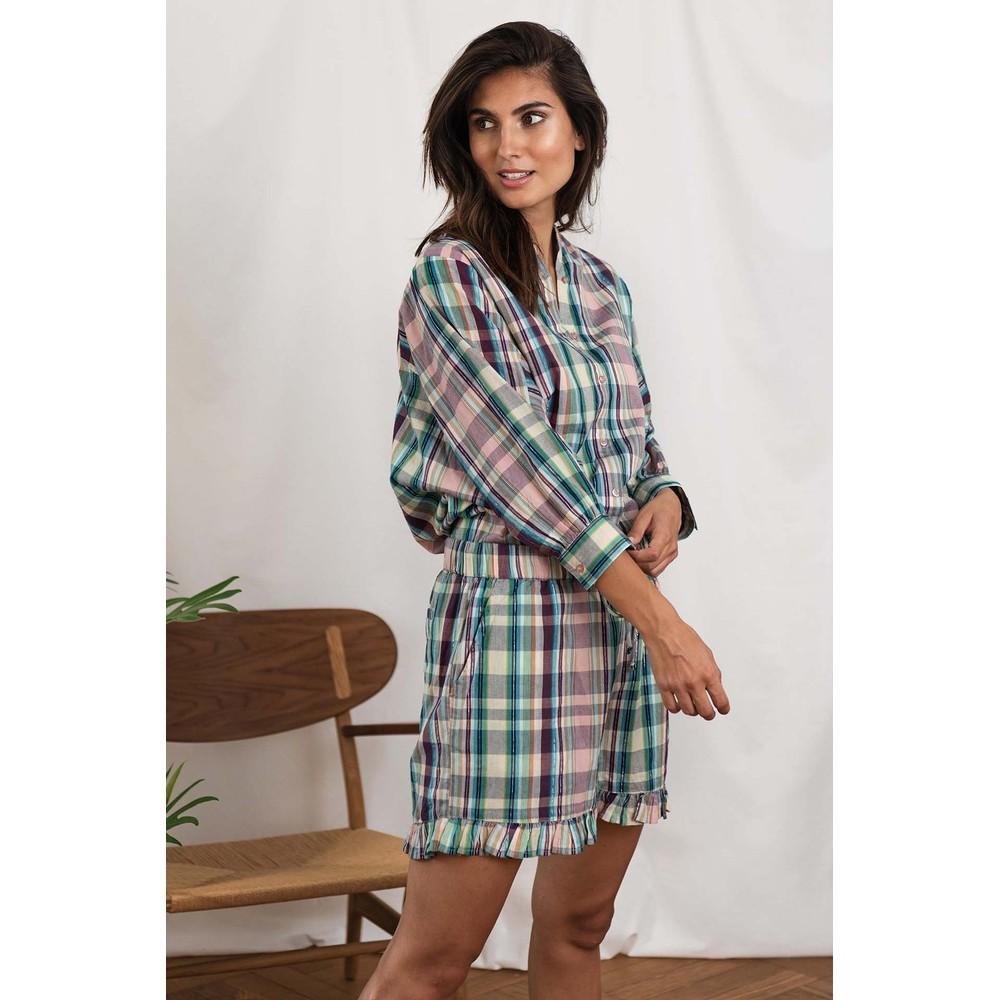 Lollys Laundry Ida Check Shorts Purple/Multi