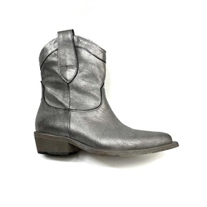 Metallic Cowboy Boot Silver