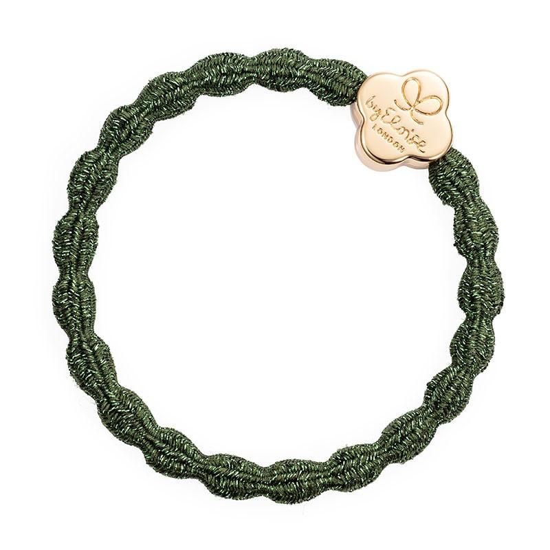 By Eloise Gold Quatrefoil Met Navy Chive Green