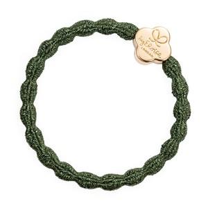 Gold Quatrefoil Met Navy Chive Green