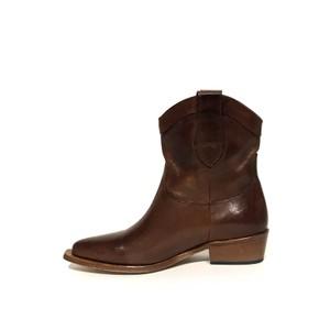 Calpierre Low Heel Cowboy Boot Tan