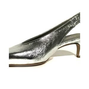 Calpierre Pointed Toe Low Heel Shoe Silver