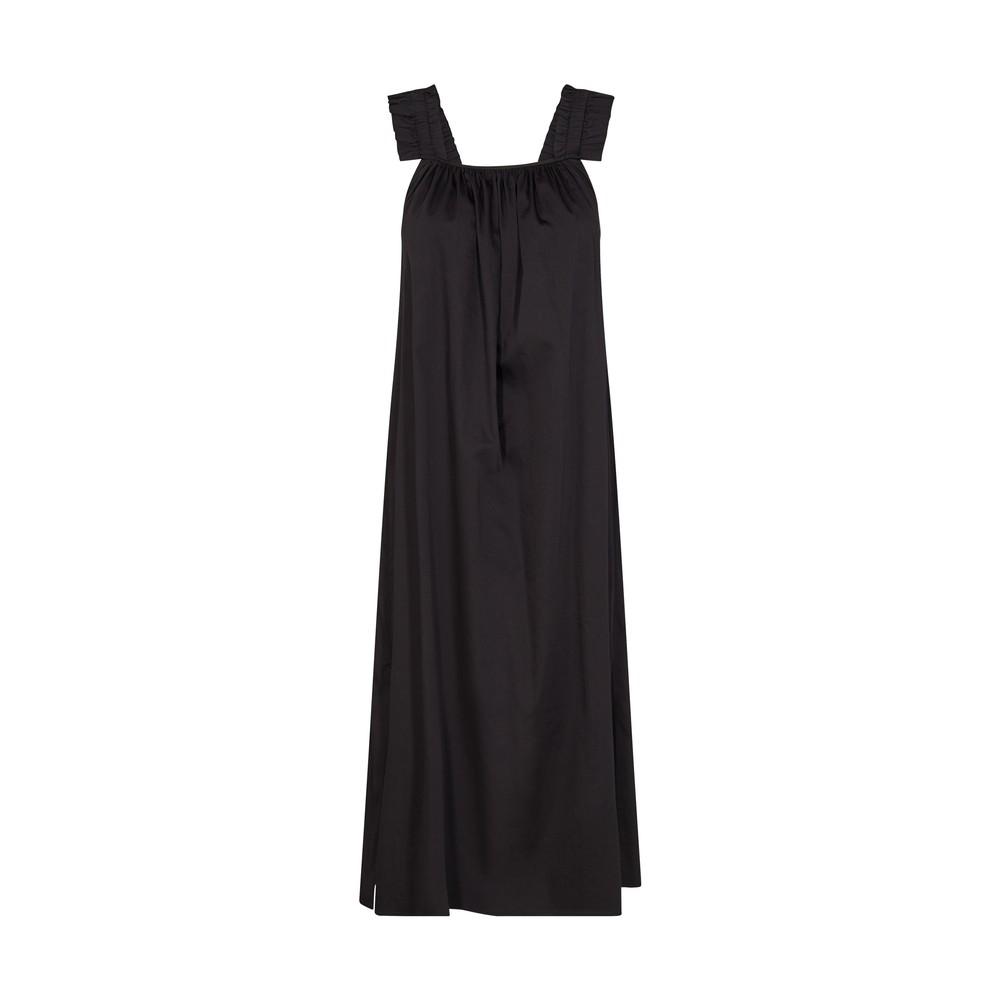 Levete Room Isla Gathered Strappy Long Dress Black