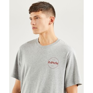 Levis Relax Fit Tee-Circle Logo Grey