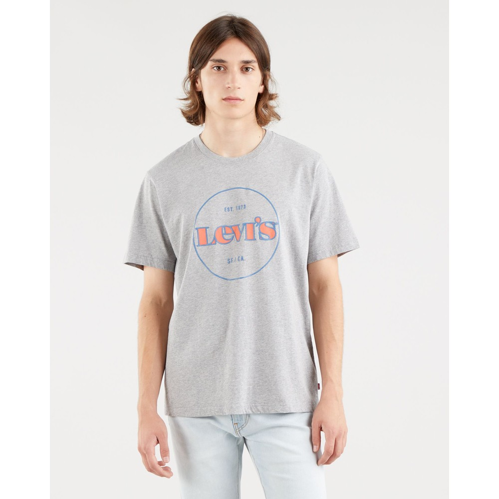 Levis Relaxed Fit Tee Midtone Heather Grey