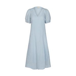 Nita Sheer Check Dress with Slip Heather
