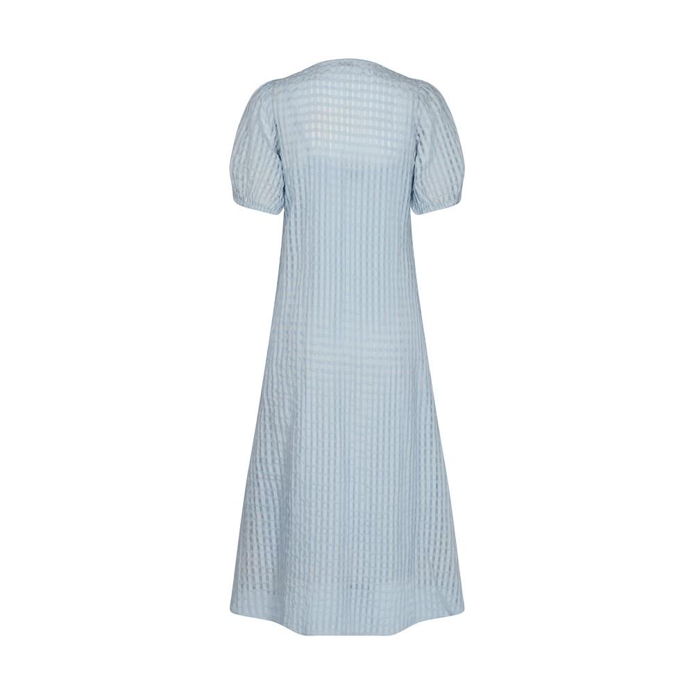 Levete Room Nita Sheer Check Dress with Slip Heather