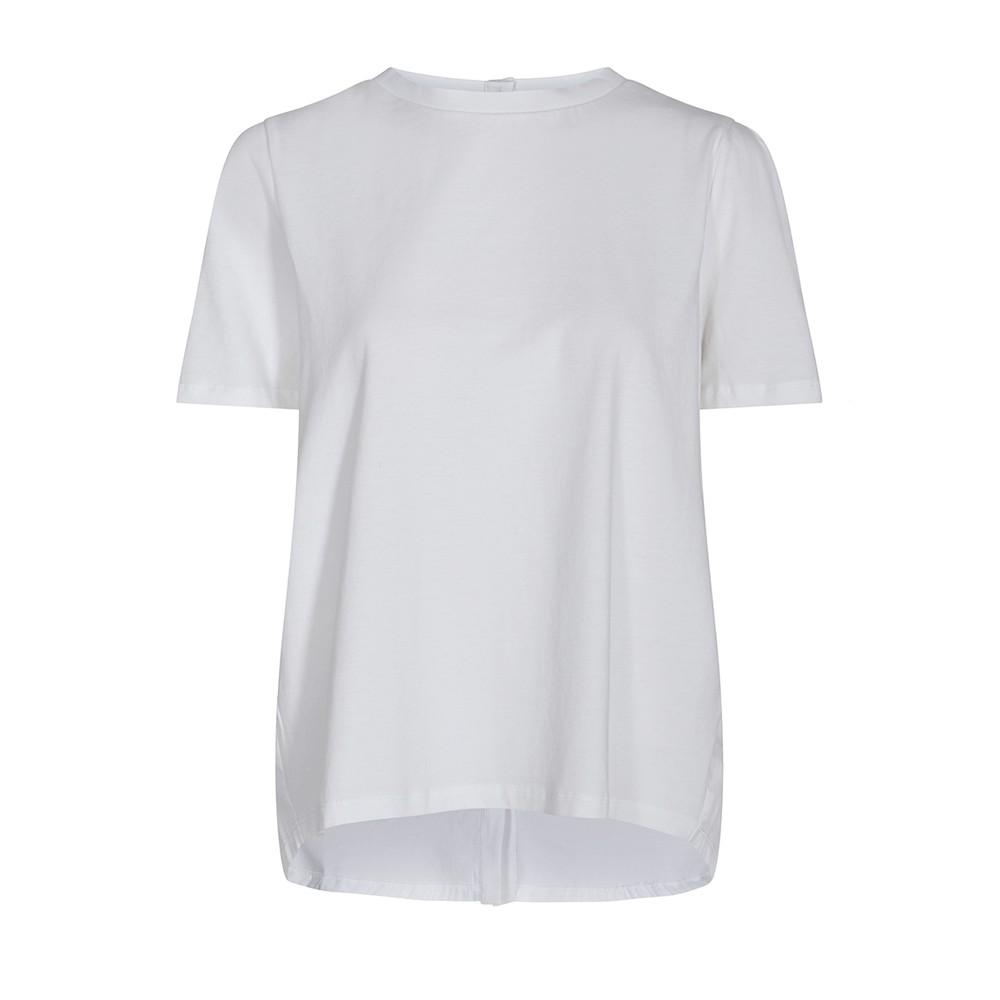 Levete Room Kowa Button Back S/S Top White