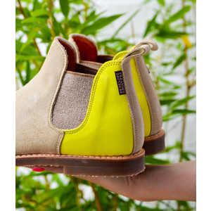 Safari Sherbet Ankle Boots Sand/Neon Yellow