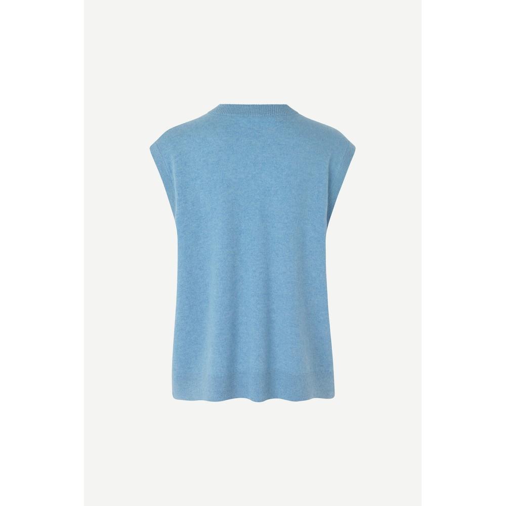 Samsoe Samsoe Nola Cashmere Vest Dusty Blue