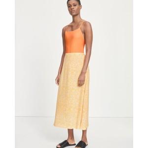 Andina Flower Print Skirt Golden Aster