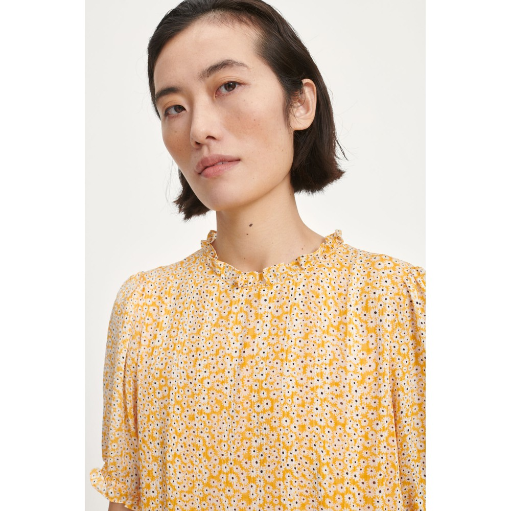 Samsoe Samsoe Emerald Flower Print Dress Golden Aster