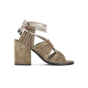 Sibella Suede Sandal Ankle Tie Espresso