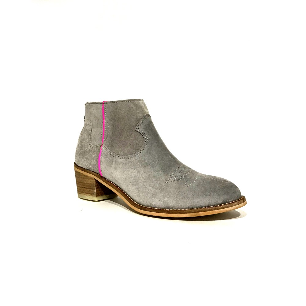 Alpe Neon Stripe Boot-Python Zip Bk Pearl