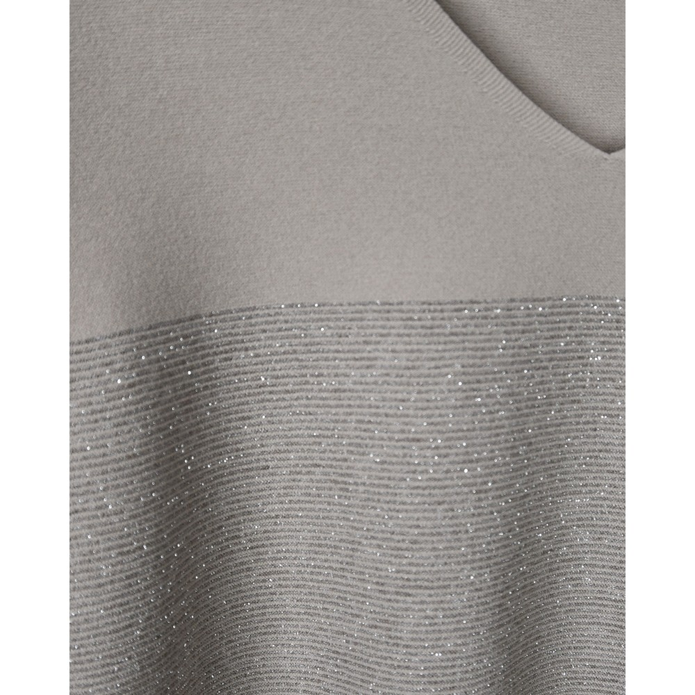 D Exterior Lurex Fine Stripe Tunic Beige