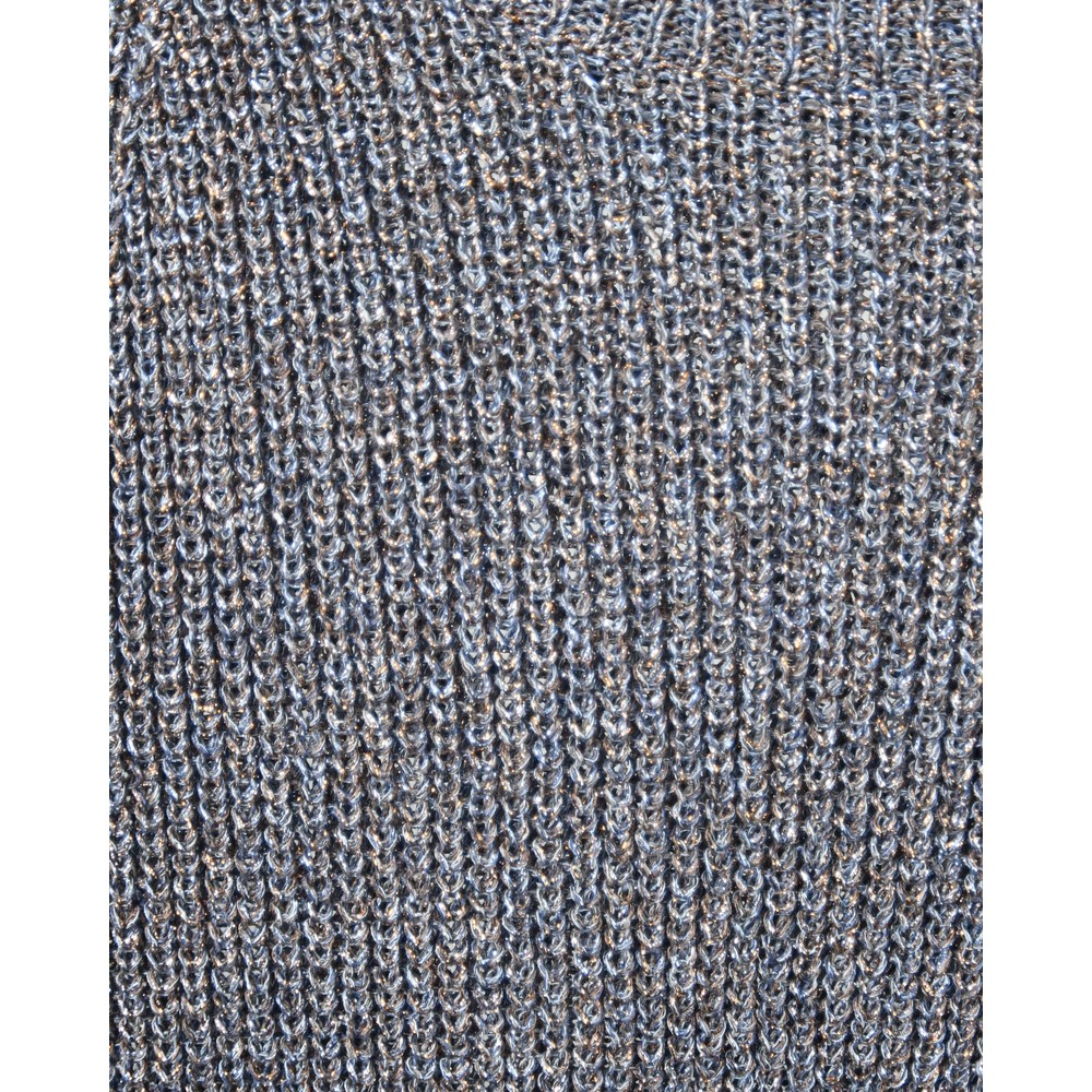 D Exterior Mid Sleeve Vented Hem Jumper Metallic Denim