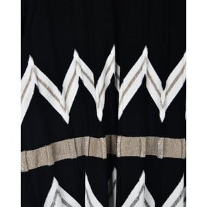 D Exterior Zig Zag Stripe Top Gold/Silver/Black/White