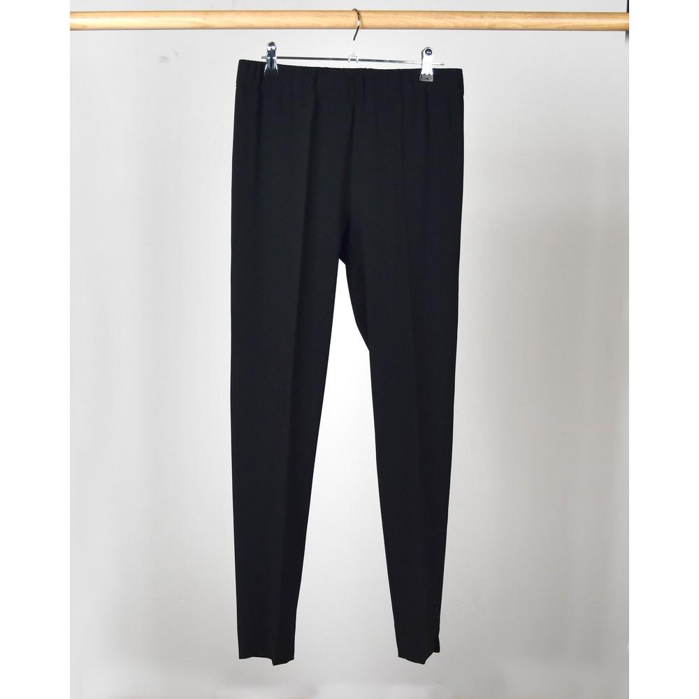 D Exterior Tapered Leg Smart Trousers Black