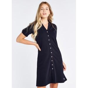Druid Button Shirt Dress Navy