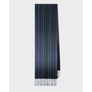 Multi Stripe Scarf Cashmere Navy/Multi