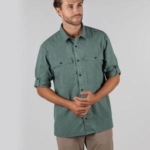 Findhorn Tech Fishing Shirt Dark Olive Check