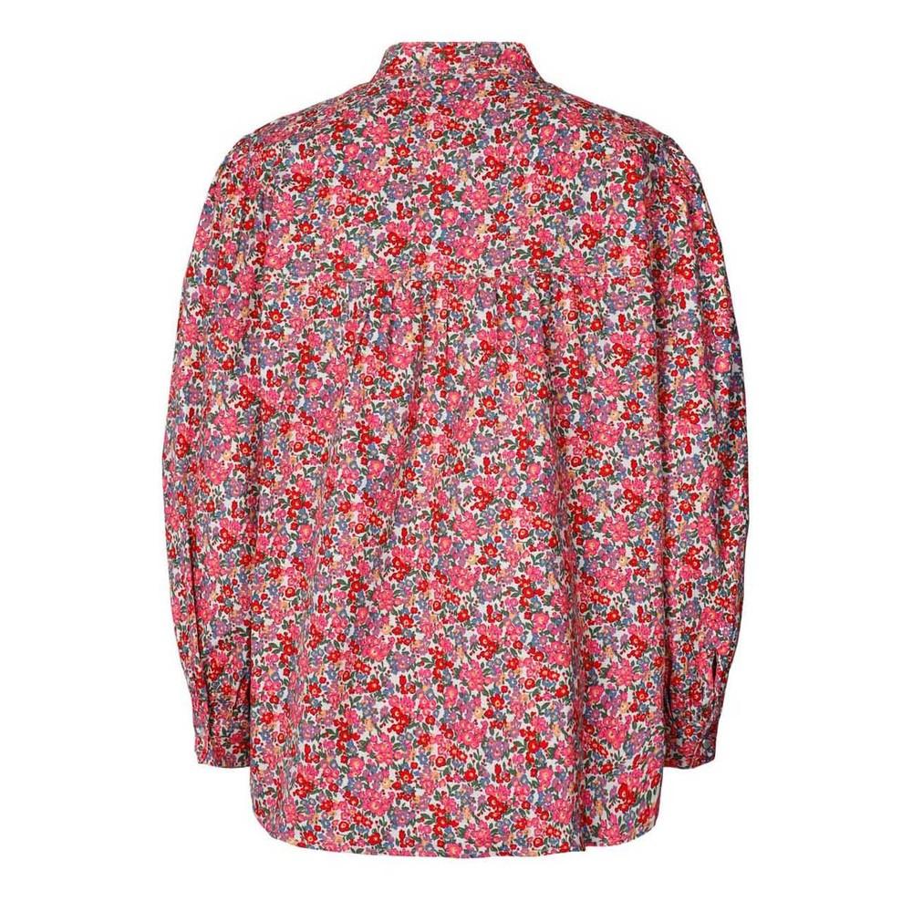 Lollys Laundry Frankie Floral Shirt Pink Flower Print