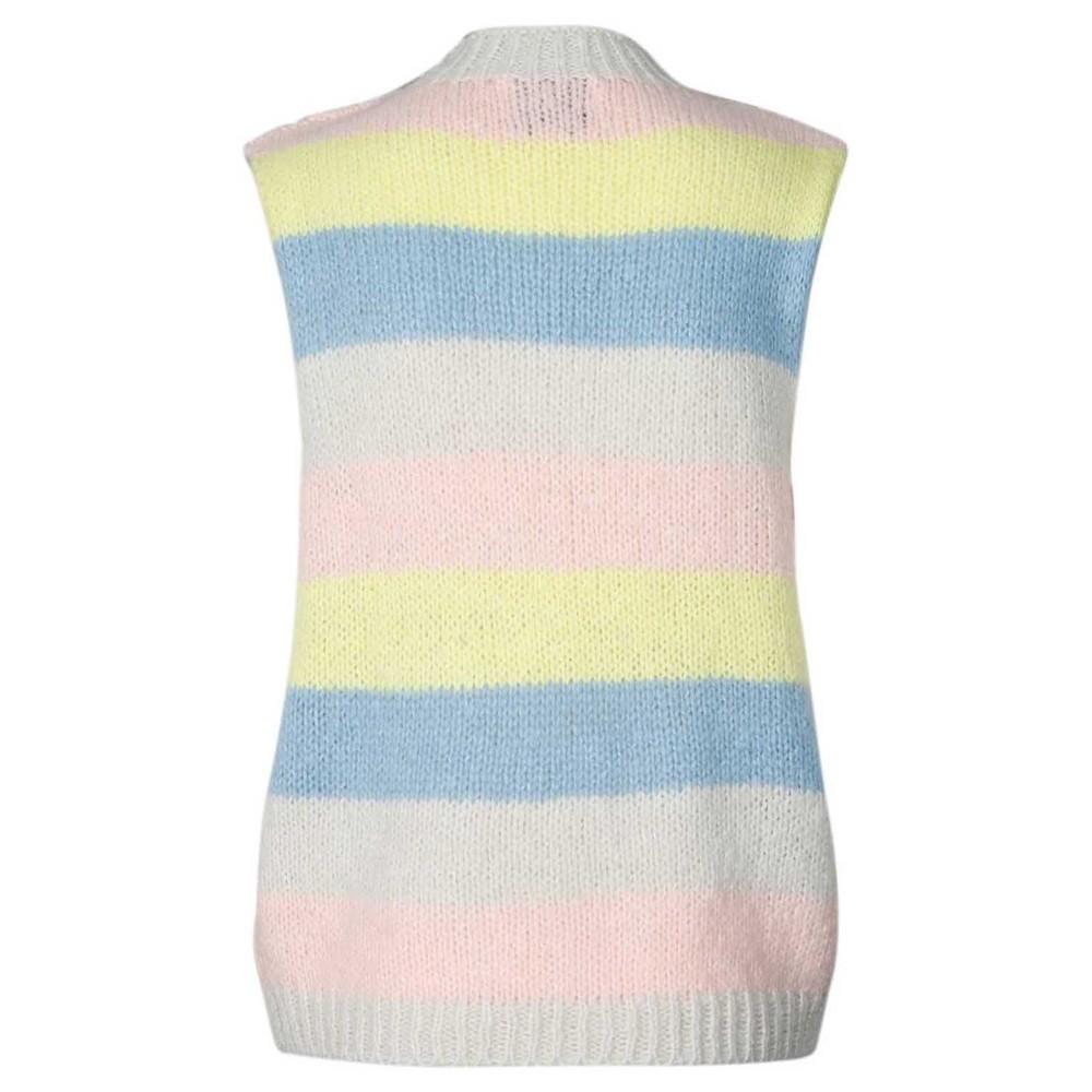 Lollys Laundry Rosa Knitted Vest Pastel Stripe