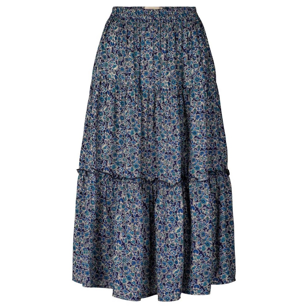 Lollys Laundry Morning Floral Skirt Dark Blue
