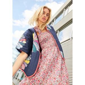 Lollys Laundry Minna Smock Top Floral Dress Pink Flower Print
