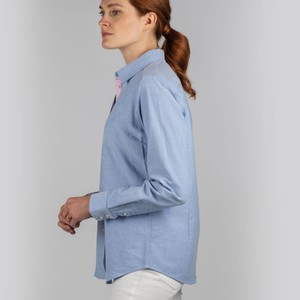 Schoffel Country Ladies Soft Oxford Shirt Pale Blue