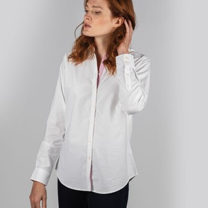 Ladies Soft Oxford Shirt White