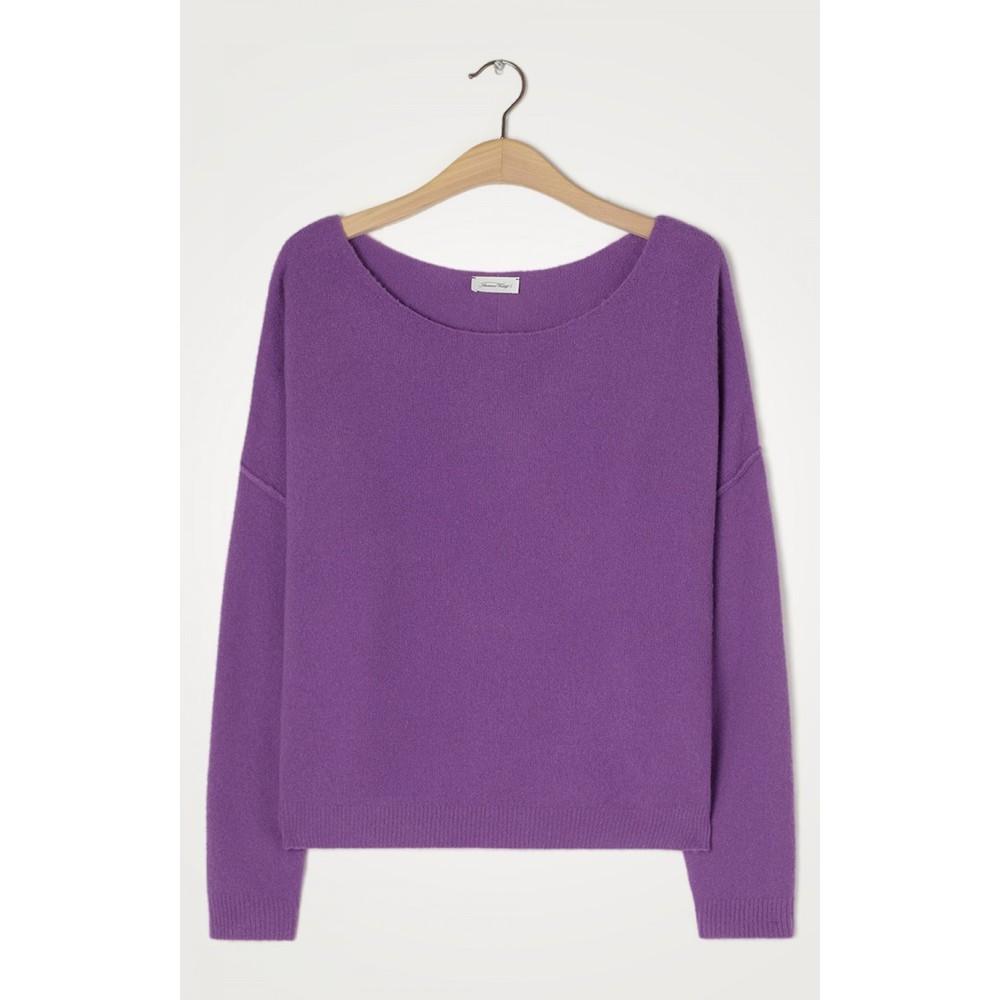 American Vintage Damsville L/S Wide Sweater Purple