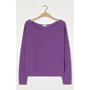 Damsville L/S Wide Sweater Purple