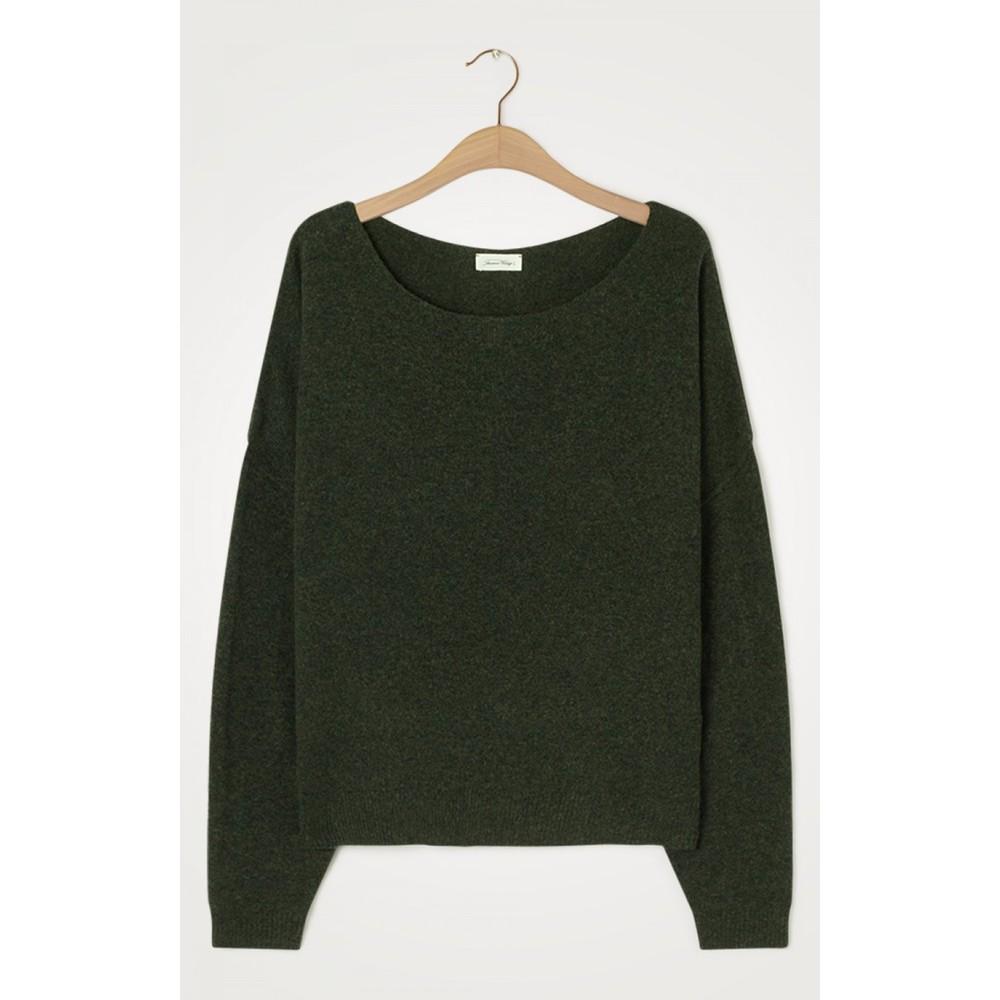 American Vintage Damsville L/S Wide Sweater Pesto Melange