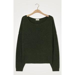 American Vintage Damsville L/S Wide Sweater in Pesto Melange