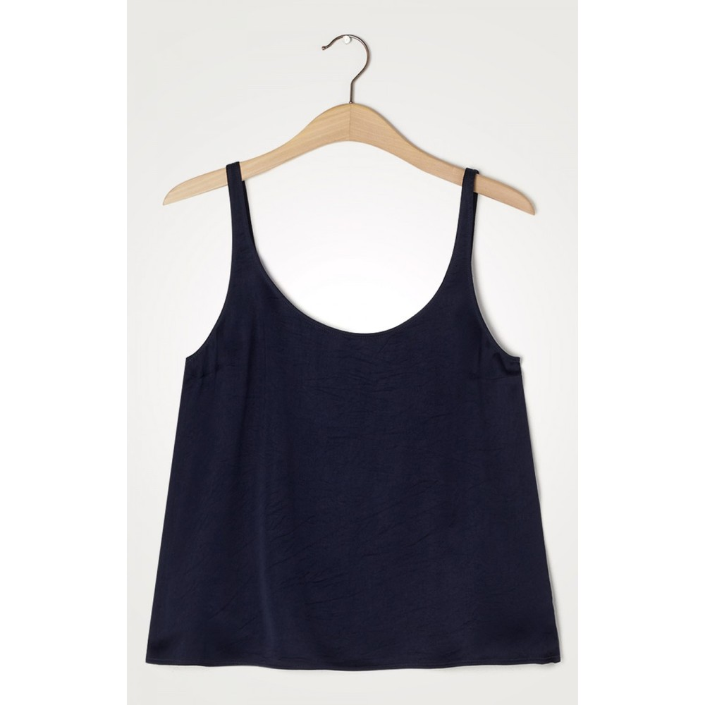 American Vintage Widland Scoop Neck Vest Navy Blue