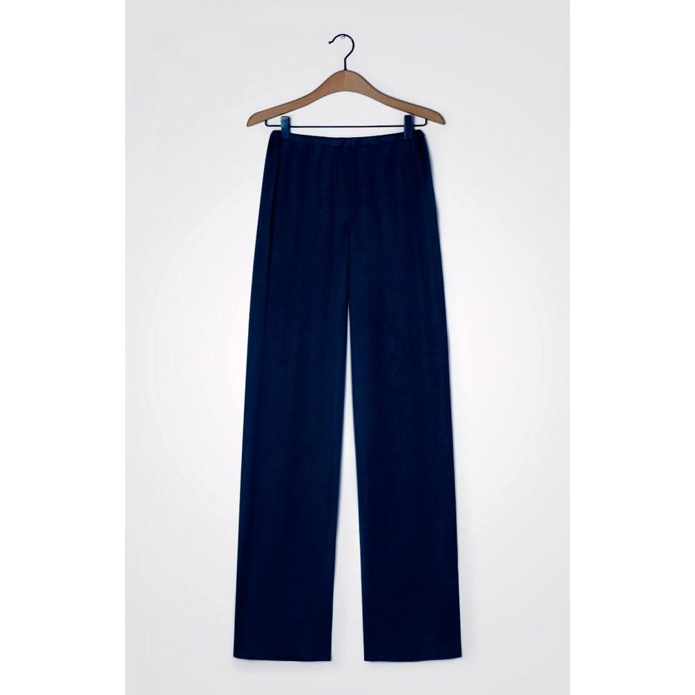American Vintage Widland Wide Leg Trousers Navy Blue