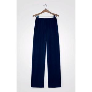 Widland Wide Leg Trousers Navy Blue