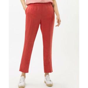 Maron Linen Tapered Trousers Burnt Orange