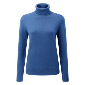 Schoffel Country Ladies Merino Roll Neck Cobalt Blue