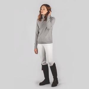 Schoffel Country Ladies Merino Roll Neck Silver Grey